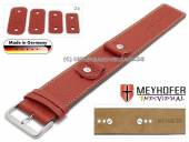 Uhrenarmband Kassel Classic 14-16-18-20mm Wechselanstoß rot Leder genarbt helle Naht Unterlagenband von Meyhofer