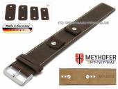 Uhrenarmband Gotha 14-16-18-20mm Wechselanstoß dunkelbraun Leder Antik-Look helle Naht Unterlagenband von Meyhofer