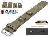 Uhrenarmband Starnberg 14-16-18-20mm Wechselanstoß beige Leder Antik-Look vegetabil Unterlagenband von Meyhofer