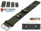 Uhrenarmband Starnberg 14-16-18-20mm Wechselanstoß dunkelgrün Leder Antik-Look vegetabil Unterlagenband von Meyhofer