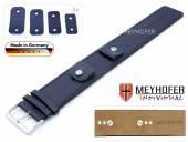 Uhrenarmband Arnbruck 14-16-18-20mm Wechselanstoß dunkelblau Leder glatt abgenäht Unterlagenband von Meyhofer