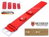 Uhrenarmband Arnbruck 14-16-18-20mm Wechselanstoß rot Leder glatt abgenäht Unterlagenband von Meyhofer