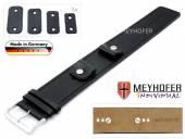 Uhrenarmband Arnbruck 14-16-18-20mm Wechselanstoß schwarz Leder glatt abgenäht Unterlagenband von Meyhofer