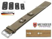 Uhrenarmband Edlingen 14-16-18-20mm Wechselanstoß beige Leder velourartig helle Naht Unterlagenband von MEYHOFER