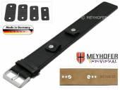 Uhrenarmband Leinburg 14-16-18-20mm Wechselanstoß schwarz Leder Alligator-Prägung Unterlagenband von MEYHOFER