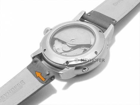 Meyhofer EASY-CLICK Uhrenarmband -Iller- 16mm hellbraun Leder Straußen-Prägung abgenäht (Schließenanstoß 16 mm) - Bild vergrößern
