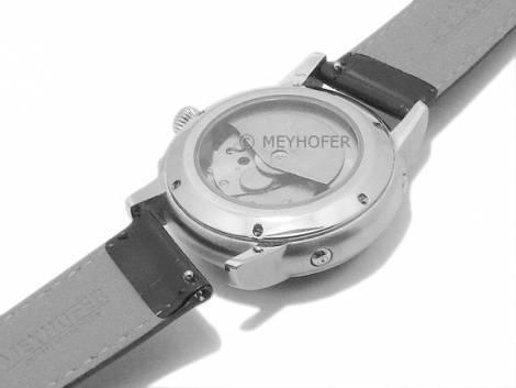 Meyhofer EASY-CLICK Uhrenarmband -Isar- 12mm rotbraun Leder Alligator-Prägung abgenäht (Schließenanstoß 10 mm) - Bild vergrößern