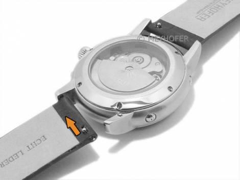 Meyhofer EASY-CLICK Uhrenarmband -Skeena- 18mm hellbraun Leder Alligator-Prägung ohne Naht (Schließenanstoß 18 mm) - Bild vergrößern