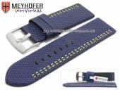 Uhrenarmband Oldenburg 26mm dunkelblau Synthetik Textillook 2farbige Doppelnaht MEYHOFER (Schließenanstoß 26 mm)