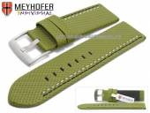 Uhrenarmband Oldenburg 26mm grün Synthetik Textillook 2farbige Doppelnaht MEYHOFER (Schließenanstoß 26 mm)