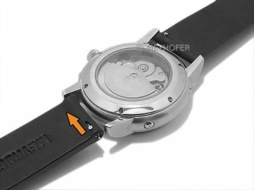 Meyhofer EASY-CLICK Uhrenarmband -Cardemin- 18mm schwarz Leder glatt (Schließenanstoß 18 mm) - Bild vergrößern