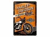 Deko-Blechschild / Retro-Reklameschild Harley-Davidson The Original Ride orange/schwarz 30 x 20cm von Nostalgic-Art