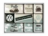 Deko-Magnet-Set 9teilig VW Think Tall & Small Retro-Style von Nostalgic-Art
