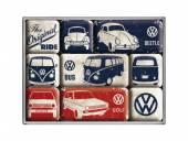 Deko-Magnet-Set 9teilig VW - The Original Ride Retro-Style von Nostalgic-Art
