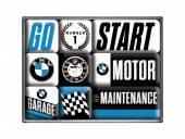 Deko-Magnet-Set 9teilig BMW - Motor Retro-Style von Nostalgic-Art
