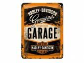 Deko-Blechschild / Retro-Reklameschild Harley-Davidson Garage orange/schwarz 20 x 15cm von Nostalgic-Art