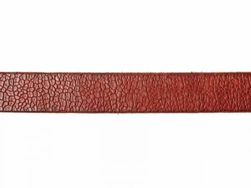 Hochwertiger Ledergürtel rotbraun Lavagestein-Optik - Größe 115 (Breite ca. 4cm) - Bild vergrößern