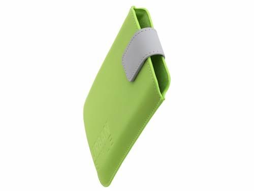 Exklusive Hülle -Urban Style- für Handy & Smartphone z.B. Samsung Feinsynthetik lederähnlich hellgrün für 5,2- - Bild vergrößern