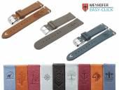 1 -d- Produkt-Tipp DESIGN: Uhrenarmbänder Meyhofer EASY-CLICK diverse Ausführungen mit MOTIV-Prägung etc. 20-22mm