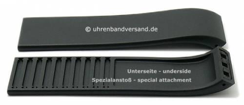 Ersatz-Uhrenarmband ROSENDAHL 23mm schwarz Synthetik glatt ohne Naht für Watch II 43103 (neu) - Bild vergrößern
