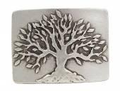 Gürtelschließe Metall altsilberfarben Tree passend für Gürtelbreite 40 mm