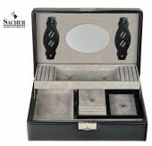 Top-Modul 2 für das Vario-System echt Leder schwarz von Sacher - Made in Germany