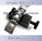 Service: Kürzung von Metall-Uhrenarmbändern (Gliederbänder)