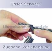 Service: Verlängerung von Metall-Uhrenarmbändern (Zugbänder)