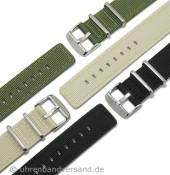 Military-Uhrenarmband Textil/Leder von CAMPAGNOLO