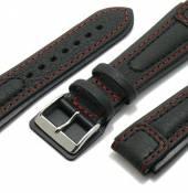 Flieger-Uhrenarmband Chronissimo mit Lederunterlage an der Schließe von DI-MODELL