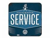 Deko-Untersetzer-Set 5teilig VW Service Retro-Style blau von Nostalgic-Art