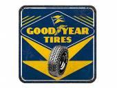 Deko-Untersetzer-Set 5teilig Goodyear - Tires Retro-Style blau/gelb von Nostalgic-Art