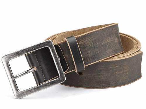 Ledergürtel schwarz Vintage-Look - Größe 105 (Breite ca. 4,5 cm) - Bild vergrößern