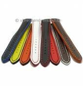 Multicolor Uhrenbänder Paracatu sportiv Leder mit farbigen Kontrastnähten von MEYHOFER