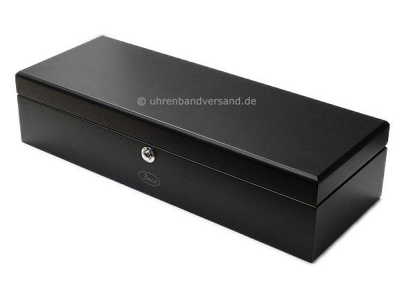 uhrenbox piano silk 5 armbanduhren schwarz matt. Black Bedroom Furniture Sets. Home Design Ideas