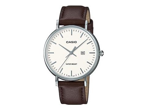 Damenuhr LTH-1060L-7AER Ziffernblatt weiß mit Lederband von Casio (*CA*DU*)