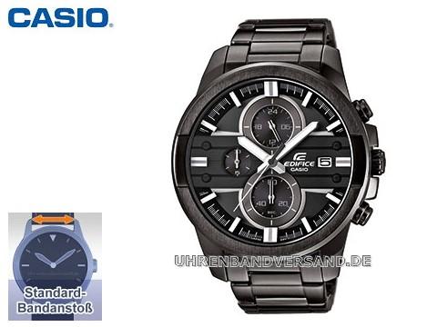 Herrenuhr Edifice EFR-543BK-1A8VUEF Edelstahl Ziffernblatt schwarz mit Edelstahlband von Casio (*CA*HU*)