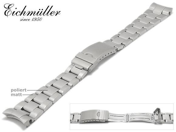 Uhrenarmband Eichmüller Edelstahl passend für Rolex 20mm