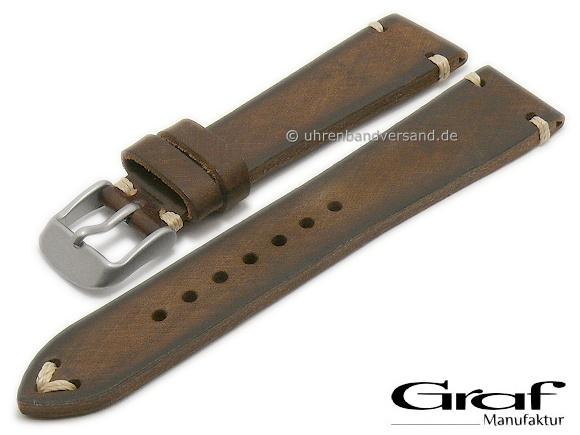 Retro Velour Stil Uhrenarmband 20mm braun Deutscher Hersteller