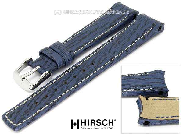 Akcesoria 18mm echt HAIFISCH Leder Germany Graf Band Strap HAI braun Uhrband Shark Skin
