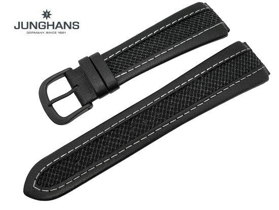 Ersatzband Junghans 20mm Schwarz Leder Textil Mit Dornschließe Für 050 2991 050 2992 050 2994 Usw