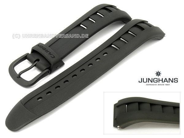 Ersatzband Junghans 20mm Schwarz Kunststoff Mit Dornschließe Für 050 2097 050 2990 014 4025 Etc