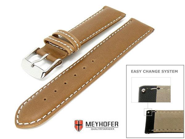 Uhrenarmband 18mm hellbraun von Meyhofer ECS