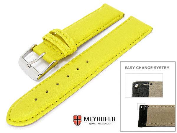 Uhrenarmband 18mm gelb mit Easy Change System