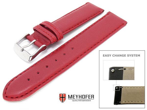Uhrenarmband 20mm rot mit Easy Change System von MEYHOFER
