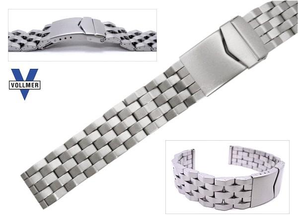 Stahl-PU Uhrenarmband TYP SPORT 1 MATERIALMIX Sandgestrahlt 20 mm Teilelastisch