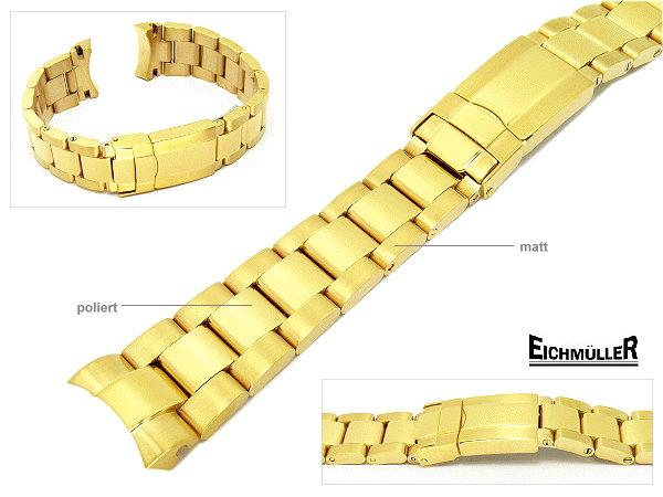 Edelstahlband Eichmüller vergoldet passend für Rolex