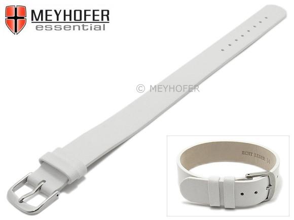 Uhrenarmband Damenuhr Echtes Leder Weiß Creme 14 MM Neu