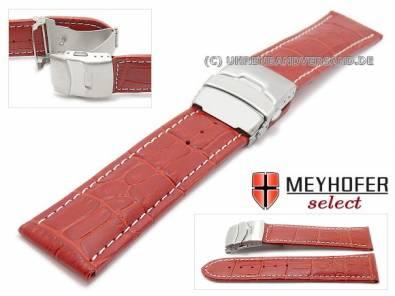 MySportivo-02: Uhrenarmbänder mit Faltschließe und diversen Kontrastnähten in vielfältigen Looks von Meyhofer