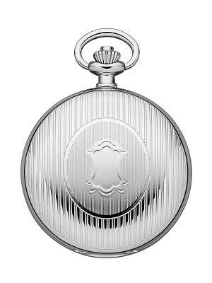 Savonette-Taschenuhr Edelstahl teilweise poliert Ziffernblatt silberfarben/grau mit Sprungdeckel von REGENT (*RG*TU*)